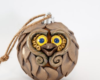 Shimmer - Polymer Clay Owl Ornament