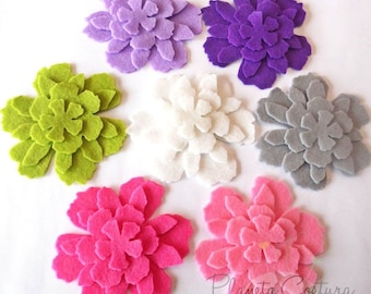 Felt flower Shapes APPLE, 28 pieces, felt die cut, felt flower, felt shapes, scrap supplies, diy wedding