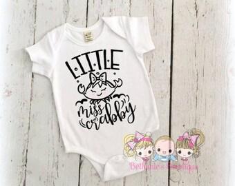 Little Miss Crabby Shirt- Baby Shirt- Newborn- Girls