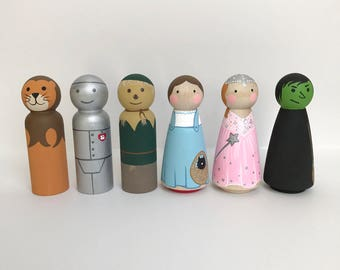 Wizard of Oz peg doll set of 6