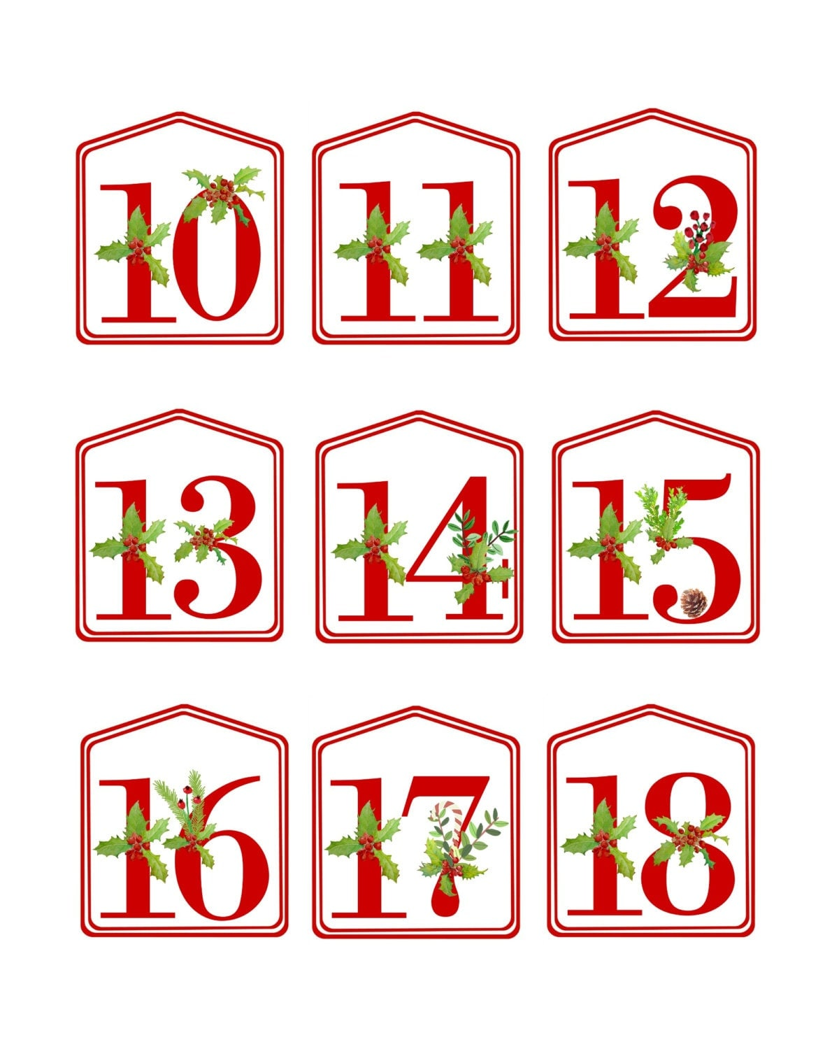 It's just an image of Transformative Printable Christmas Numbers