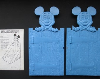 Set of Two 1976 Mickey Mouse Book Racks