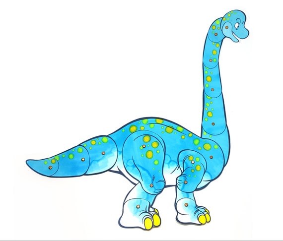 Brachiosaurus Paper Doll DIY and Young Adult Digital Download Dinosaur Craft