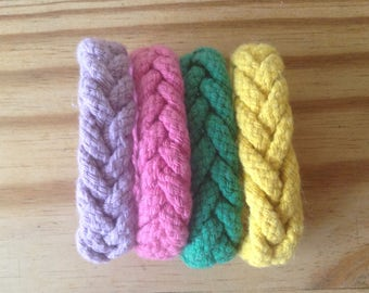Sailors knot Turkshead herringbone  head cotton rope bracelet