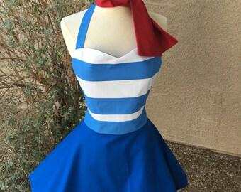 Plus- Mr Smee costume apron dress