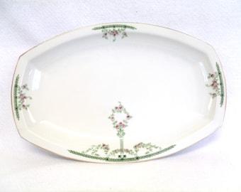 Heinrich Bavaria Platter, Pattern 5520, Roses and Laurel