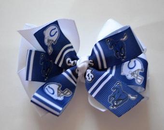 Indianapolis Colts Hair Bow Football