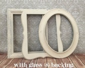 11x14  PICTURE FRAME - you choose ONE - white - shabby chic  - Glass and Backing - Wall Hanging