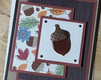Fall Acorn Card