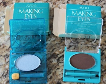 Vintage  Avon Old Stock Discontinued Making Eyes Shadow and Brow Makeup