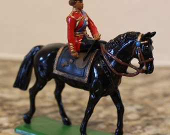 Collectible Vintage 1988 W. Britain England Queen Mounted On Horse