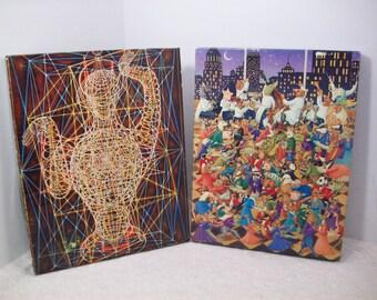 Vintage Springbok Jigsaw Puzzle FATMA 1969 & Party Animals 500 PCS Both Complete