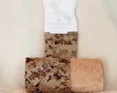 Camo Baby Blanket Marine USMC Gift * NAME * PERSONALIZED Boy Girl Digital Camo Cotton Camouflage -  Minky Bedding