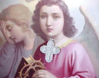 Lovely Vintage Sterling Silver 4 Way Cross Pendant