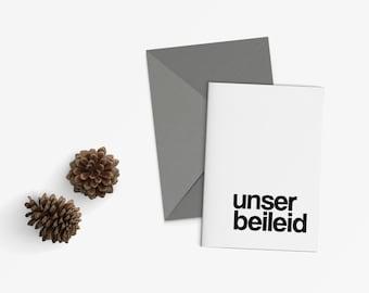 Simplistic Condolence Card (German)