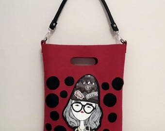 New Felt Tote Bag, Casual Tote,Made by gizzdesign