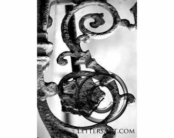 ONLY  1.99 INSTANT Letter Art- 4x6 individual photo download - printable  - digital image - alphabet, nature, architectural. Letter S - S17
