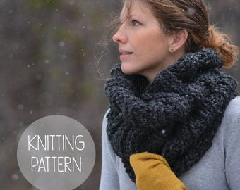 FLASH SALE knitting pattern - summit cowl - instant download