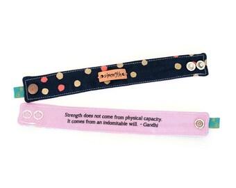 Inspirational Bracelet, Blessing Band™, Secret Message Bracelet, Strength Cuff, metal plate bracelet Quote Bracelet, Inspirational Cuff