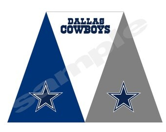 Printable Dallas Cowboys Triangle Banner