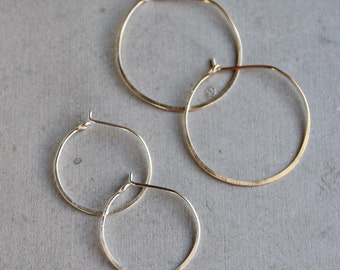 Simple Hoops, delicate hoop earrings, modern geometric jewelry