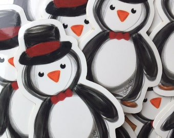 Penguin galarple sticker