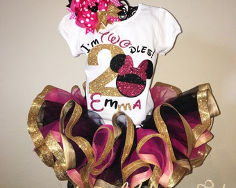 Oh TWO dles Minnie Mouse Set