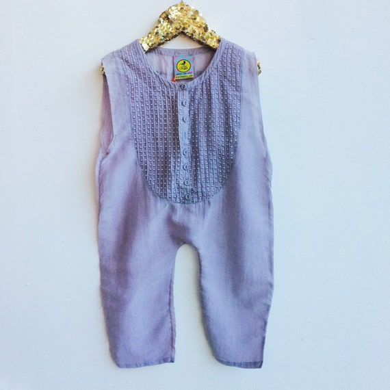 SWEETIE 2-3 Years Baby Chiffon Suit Childrens Onesie Jumpsuit One Piece Jumper Romper Playsuit Upcycled Unisex