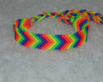 Neon Chevron friendship bracelet
