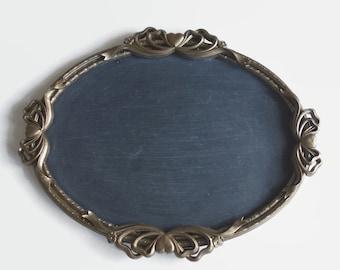 Vintage Bronze Framed Chalkboard, Ornate Gold Mirror, Wedding Decor