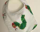 ON SALE The Very Hungry Caterpillar baby bib, the Very Hungry Caterpillar bib, newborn bib, newborn baby bib,  kid's book bib, baby book bib