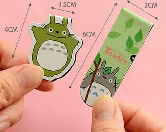 Magnet Totoro Book Marker Totoro Paper Clips Kawaii Book Marker