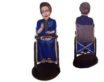 Joan Crawford Whatever Happened to Baby Jane Hand Painted 2D Art Figurine
