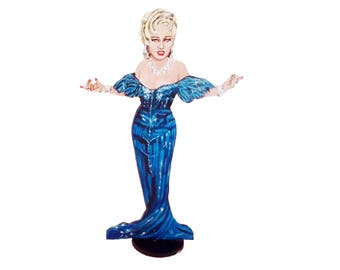 Mae West Hand Painted 2D Art Figurine