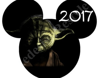 Mickey Mouse Star Wars 2017 Iron-On Digital File
