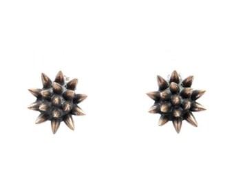 30% OFF// spike earrings // oxidized bronze