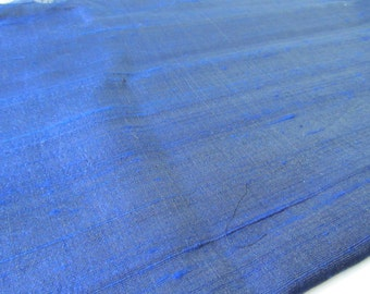 Midnight blue raw silk shantung silk fabric nr 799 yard or meter