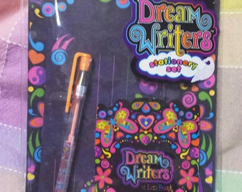 RARE Vintage Lisa Frank Dream Writers Butterfly Stationery Set with pen!