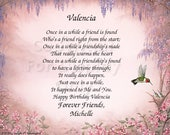 Reserved fo Sonia   Friendship Valencia Williams Gift and keepsake