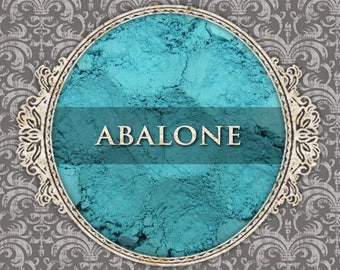 ABALONE Matte Eyeshadow: Samples or Jars, Light Turquoise, Loose Powder Eyeshadow, Cosmetic Pigment, VEGAN Makeup, Ships Out in 4-7 Days