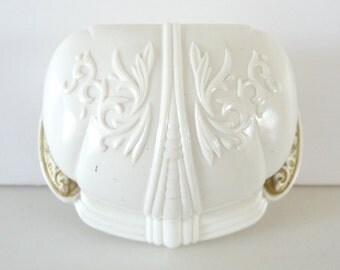 Celluloid Art Deco Ring Box Display Cream Plastic Vintage Wedding Ring Holder