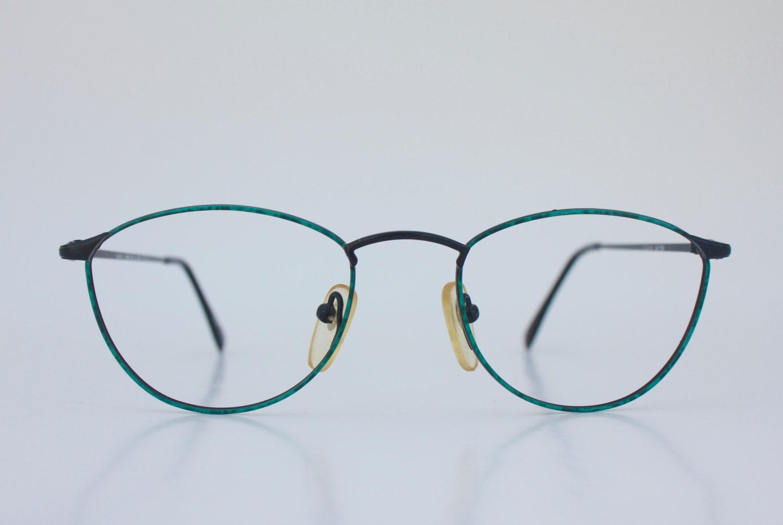 Vintage Deep Emerald Wire Eyeglasses Frames [E10190947032083698M ...