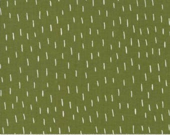 Merrily by Gingiber for Moda - Just a Dash - Holly Green - 1/2 Yard Cotton Quilt Fabric 517
