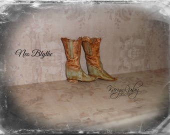 Blythe ~RESERVED for CAROL ~ Fits  Neo or Licca Bodies Only  ~ 'Cowboy Boots'  Old West Inspired ~  by KarynRuby