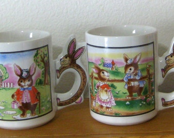 Peter Rabbit Cottontail Easter Bunny Children's Mugs-Your Choice