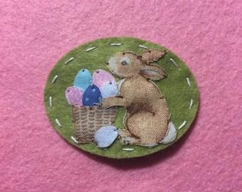 Easter bunny no slip felt hair clip