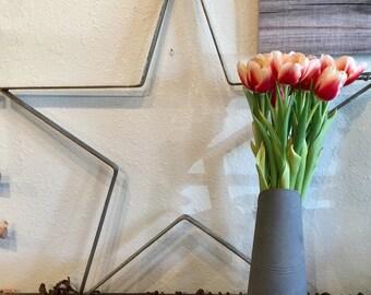 22 Inch Aqua or Light Turquoise Metal Star/Farmhouse Star/Rustic Wall Decor Star/Door Wreath Star
