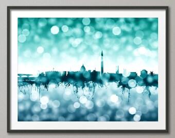 Washington DC Skyline, Cityscape Art Print (2599)