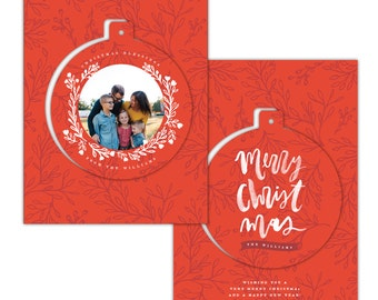 INSTANT DOWNLOAD - Christmas Pop-out card photoshop template - e1420