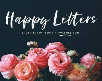 Happy Letters Brush Script font